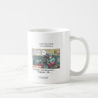 Telephone Code Blue Cartoon Funny Coffee Mug