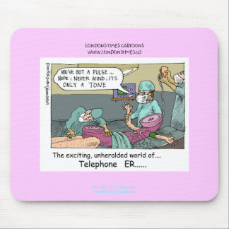 Telephone Code Blue Cartoon Funny Mouse Pad Mouse Pad