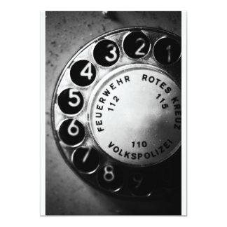 Telephone dial card