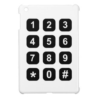 Telephone dial numbers case for the iPad mini