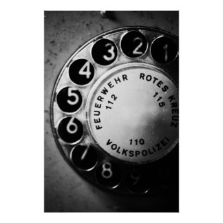Telephone dial poster