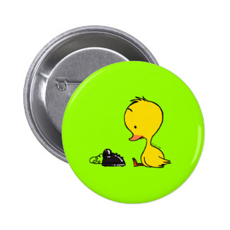 Telephone & Duck Pinback Button