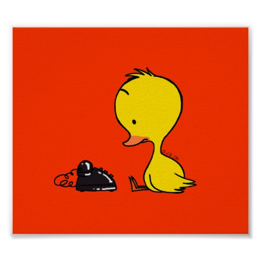 Telephone & Duck Poster