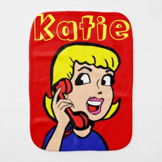 Telephone Girl Comic Strip Burp Cloth