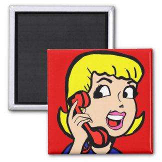 Telephone Girl Comic Strip Magnet
