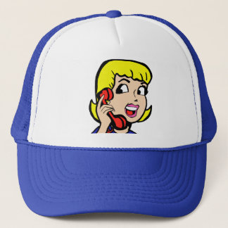 Telephone Girl Comic Strip Trucker Hat