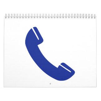 Telephone icon wall calendar