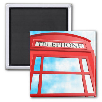 Telephone 2 Inch Square Magnet