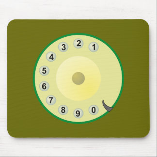 Telephone of telephones dial dial plate mouse pad