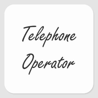 Telephone Operator Artistic Job Design Square Sticker
