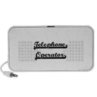 Telephone Operator Classic Job Design Travelling Speaker