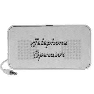 Telephone Operator Classic Job Design iPhone Speakers
