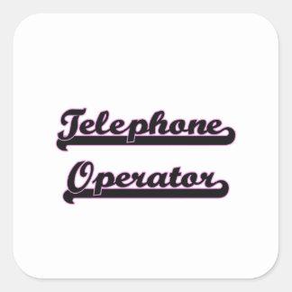 Telephone Operator Classic Job Design Square Sticker