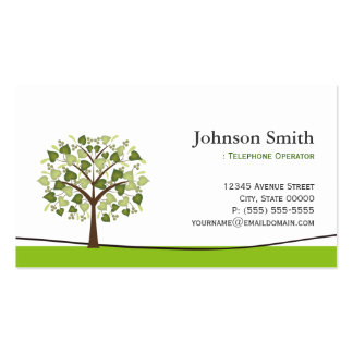 Telephone Operator - Elegant Wish Tree Double-Sided Standard Business Cards (Pack Of 100)