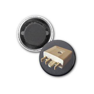 Telephone plug to standard RJ-11 adaptor 1 Inch Round Magnet