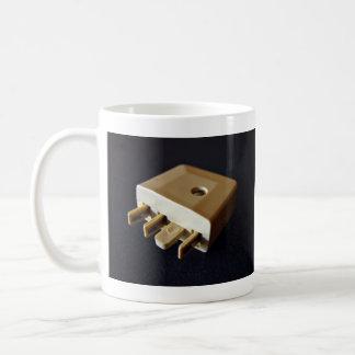 Telephone plug to standard RJ-11 adaptor Classic White Coffee Mug