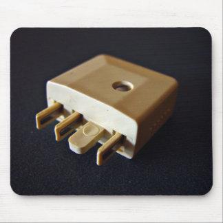 Telephone plug to standard RJ-11 adaptor Mouse Pad