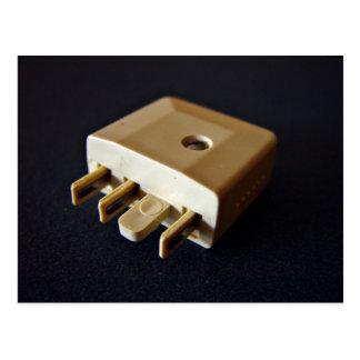 Telephone plug to standard RJ-11 adaptor Postcard