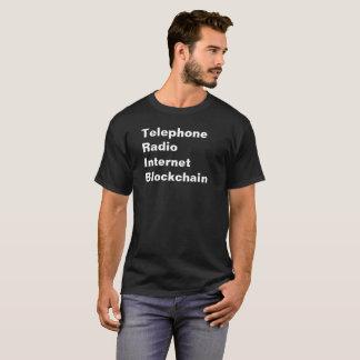 Telephone Radio Internet Blockchain Tech T-Shirt