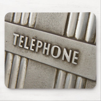 TELEPHONE SIGN. MOUSE PAD