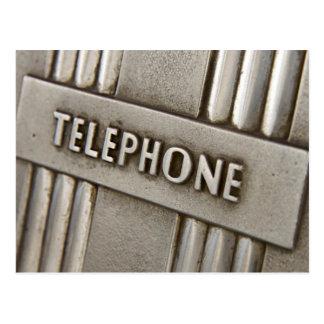 TELEPHONE SIGN. POSTCARD