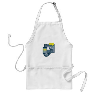 Telephone Smartphone Website Call Back Adult Apron