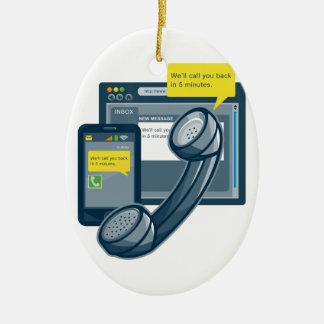 Telephone Smartphone Website Call Back Christmas Ornament