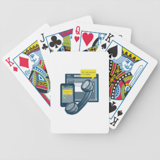 Telephone Smartphone Website Call Back Bicycle Poker Deck