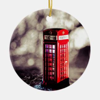 TelephoneBox.jpg Ceramic Ornament