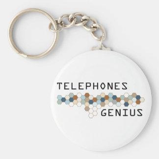 Telephones Genius Basic Round Button Keychain