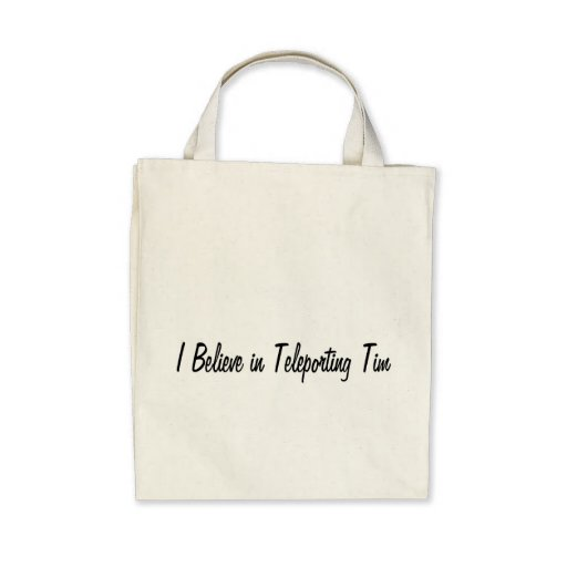 Teleporting Tim Canvas Bags