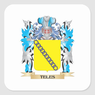 Teles Coat of Arms - Family Crest Square Sticker