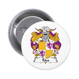 Teles Family Crest Pinback Buttons