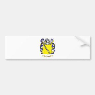 Teles Family Crest (Coat of Arms) Car Bumper Sticker