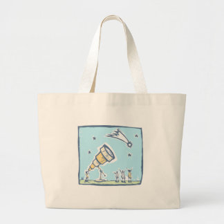 Telescope and Comet Large Tote Bag