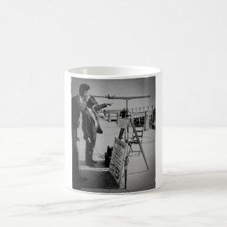 Telescope and Men The Battery Lower Manhattan NYC Coffee Mug