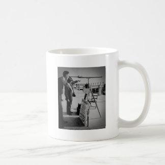 Telescope and Men The Battery Lower Manhattan NYC Mugs