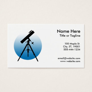 Telescope Astronomy Business Card
