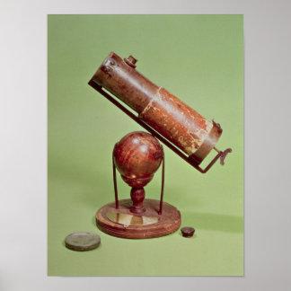 Telescope belonging to Sir Isaac Newton  1671 Poster