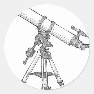 Telescope Drawing Series Classic Round Sticker