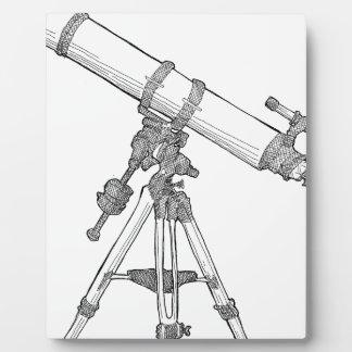 Telescope Drawing Series Plaque