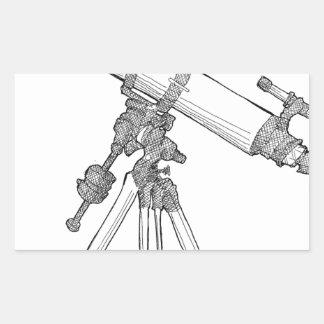 Telescope Drawing Series Rectangular Sticker