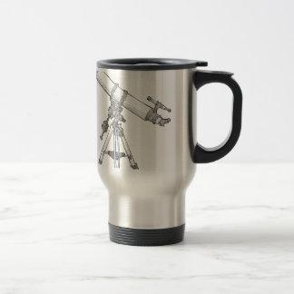 Telescope Drawing Series Travel Mug