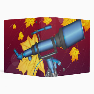 Telescope on a stormy night 3 ring binder