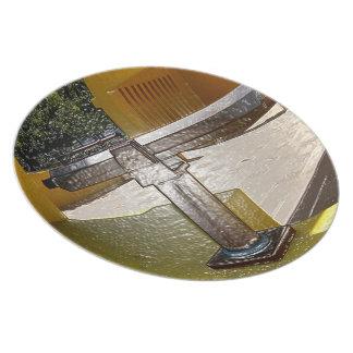 Telescope On Plastic Plate