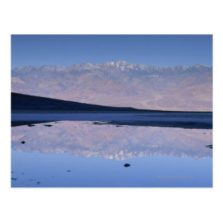 Telescope Peak reflected in pool at Badwater Postcard