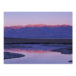 Telescope Peak reflected in pool at Badwater , Postcard