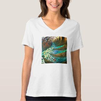 'Telescopic Landscape' by Zemarelli Women's V-Neck T-Shirt