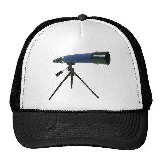Telescopio azul gorras de camionero