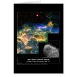 Telescopio creciente de Hubble de la nebulosa 6888 Felicitación